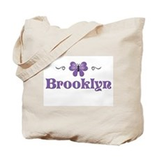 Purple Butterfly - Brooklyn Tote Bag