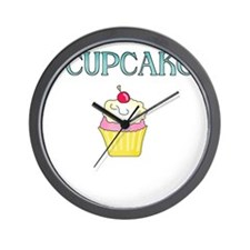 I LOVE CUP CAKES Wall Clock
