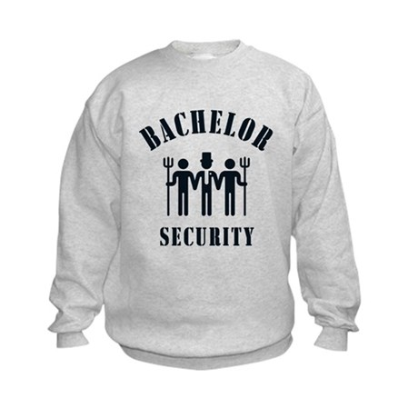 Bachelor Security (Stag Night / Black) Kids Sweats
