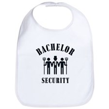 Bachelor Security (Stag Night / Black) Bib