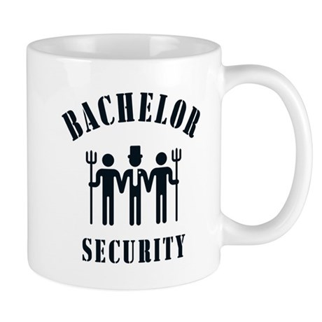 Bachelor Security (Stag Night / Black) Mug