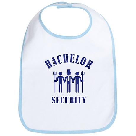Bachelor Security (Stag Night / Blue) Bib