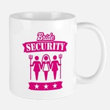 Bride Security (Hen Party / Pink) Small Mugs