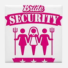 Bride Security (Hen Party / Pink) Tile Coaster