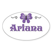 Purple Butterfly - Ariana Oval Decal