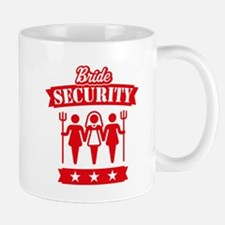 Bride Security (Hen Party / Red) Mug