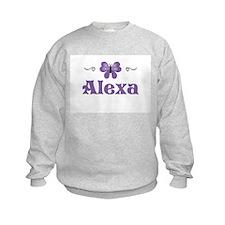 Purple Butterfly - Alexa Sweatshirt