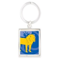 Lion Portrait Keychain