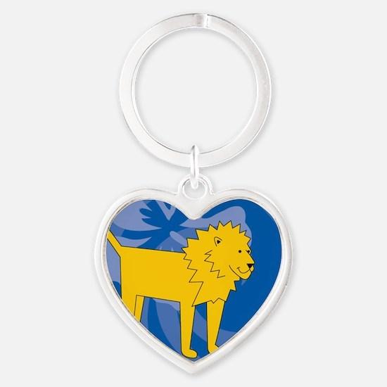 Lion Heart Keychain