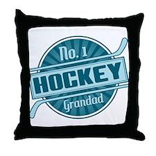 No. 1 Hockey Grandad Throw Pillow