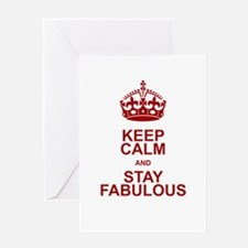Keep Calm and Stay Fabulous Greeting Card