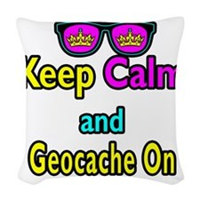 Crown Sunglasses Keep Calm And Geocache On Woven T