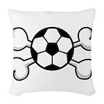 soccer ball.png Woven Throw Pillow