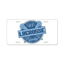 #1 Lacrosse Grandpa Aluminum License Plate
