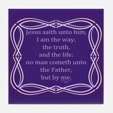 Bible Verse John 14 6 Tile Coaster