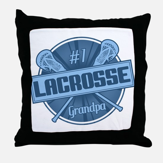 #1 Lacrosse Grandpa Throw Pillow