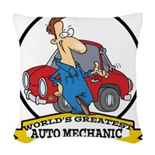 WORLDS GREATEST AUTO MECHANIC CARTOON.png Woven Th