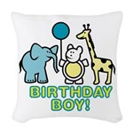 birthday boy copy.jpg Woven Throw Pillow