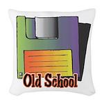 old school floppy disk copy.jpg Woven Throw Pillow