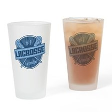 #1 Lacrosse Grandpa Drinking Glass