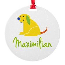 Maximilian Loves Puppies Ornament