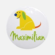 Maximilian Loves Puppies Ornament (Round)