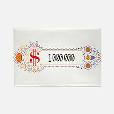 1 000 000 Dollars 2 Rectangle Magnet (100 pack)
