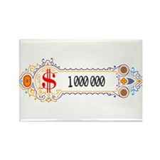 1 000 000 Dollars 2 Rectangle Magnet (10 pack)