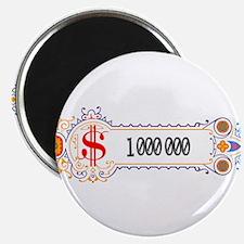 "1 000 000 Dollars 2 2.25"" Magnet (100 pack)"