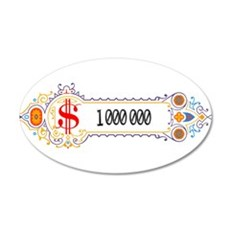 1 000 000 Dollars 2 Wall Decal