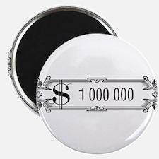 "1 000 000 Dollars 3 2.25"" Magnet (100 pack)"