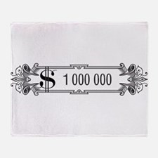 1 000 000 Dollars 3 Throw Blanket