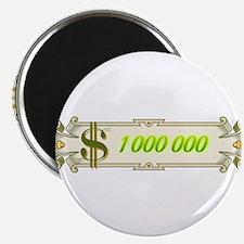 "1 000 000 Dollars 4 2.25"" Magnet (100 pack)"