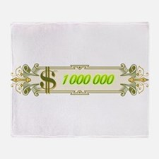 1 000 000 Dollars 4 Throw Blanket