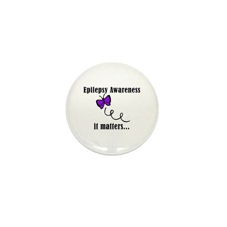 Epilepsy Awareness Matters Mini Button (10 pack)