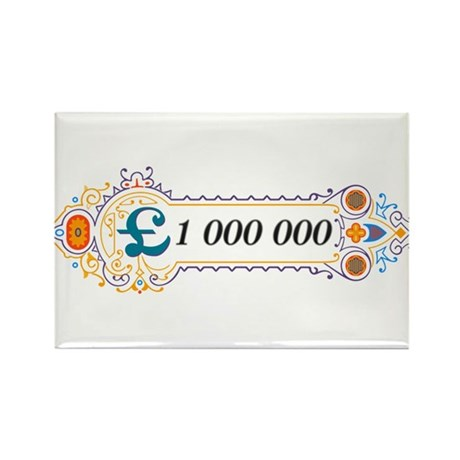 1 000 000 Pounds 2 Rectangle Magnet (10 pack)