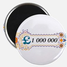 """1 000 000 Pounds 2 2.25"""" Magnet (100 pack)"""