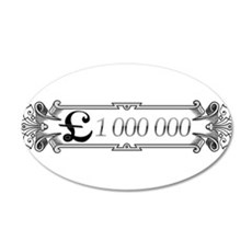 1 000 000 Pounds 3 Wall Decal