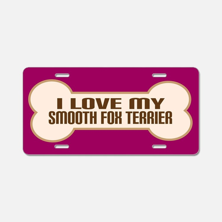 Smooth Fox Terrier Aluminum License Plate