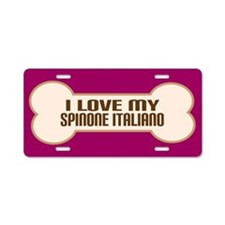 Spinone Italiano Aluminum License Plate
