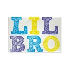 "Sketch Style ""Lil Bro"" Rectangle Magnet"