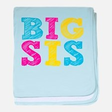 "Colorful ""Big Sis"" baby blanket"