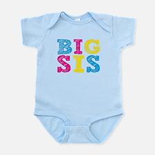 "Colorful ""Big Sis"" Infant Bodysuit"