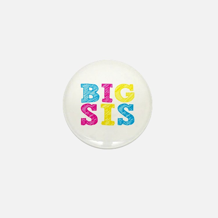 """Colorful """"Big Sis"""" Mini Button (10 pack)"""