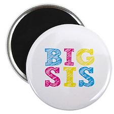"Colorful ""Big Sis"" 2.25"" Magnet (10 pack)"