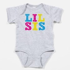 "Colorful ""Lil Sis"" Baby Bodysuit"