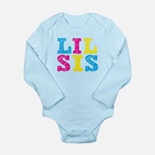 "Colorful ""Lil Sis"" Long Sleeve Infant Bodysuit"