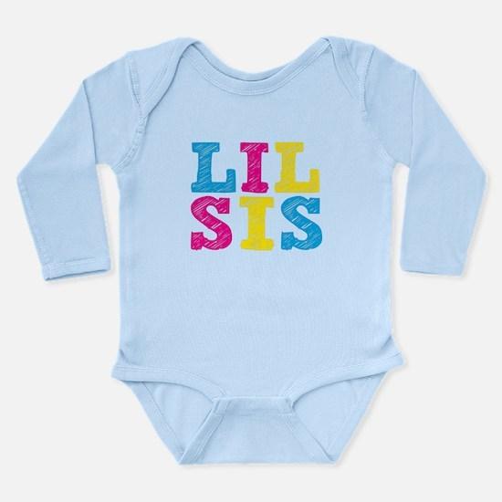 "Colorful ""Lil Sis"" Long Sleeve Infant Bodysuit"