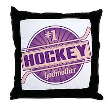 #1 Hockey Godmother Throw Pillow