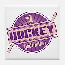 #1 Hockey Godmother Tile Coaster